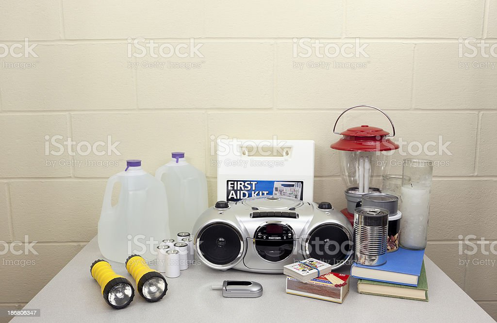Emergency or Blackout Supplies stock photo