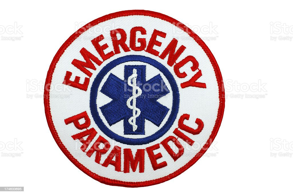 Emergency Paramedic Patch stock photo