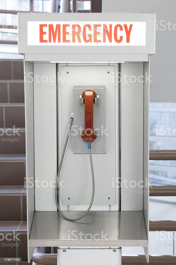 Emergency Phone Booth royalty-free stock photo