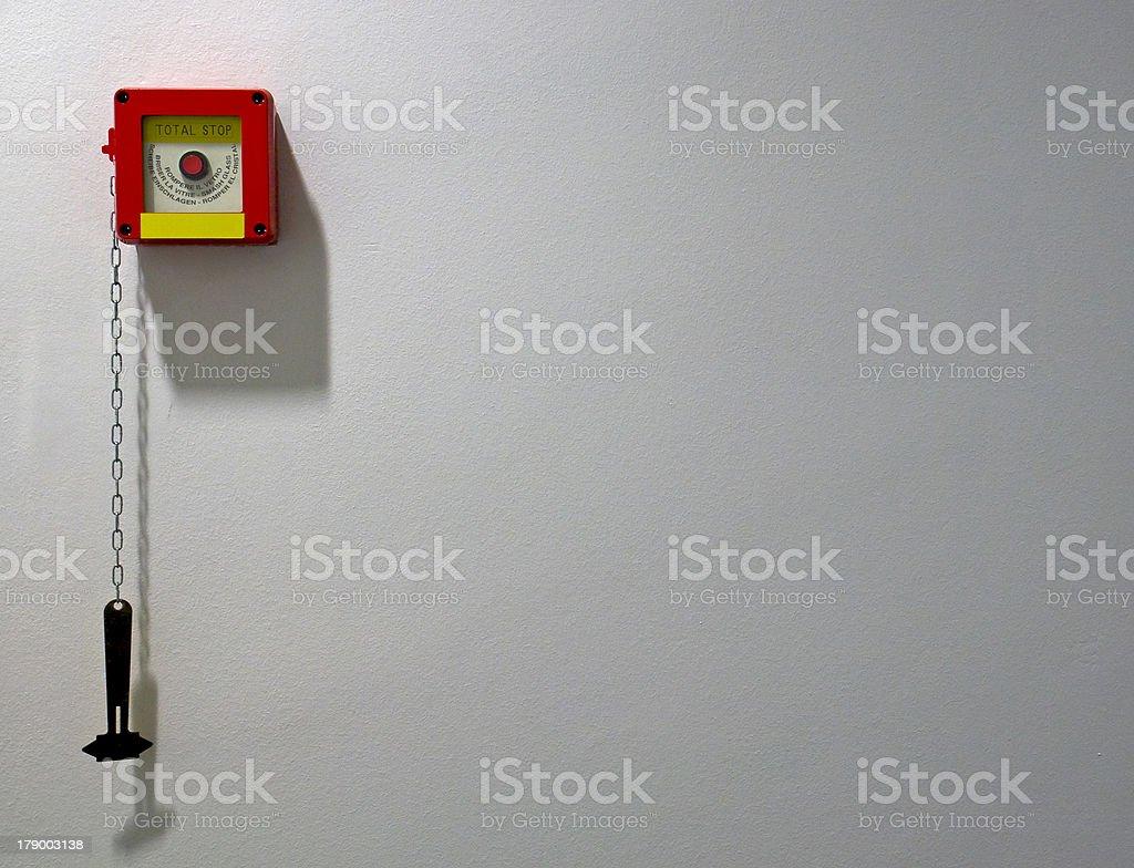 Emergency point stock photo