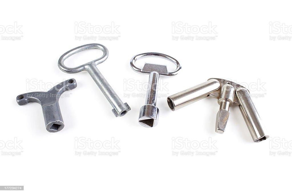 Emergency release keys royalty-free stock photo