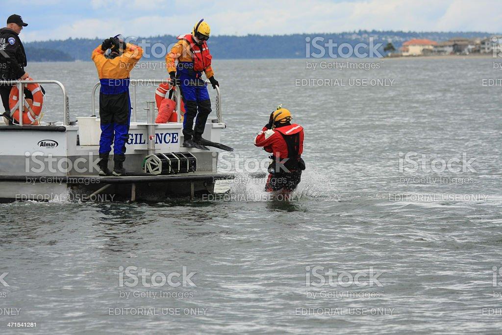 Emergency Response Drill royalty-free stock photo