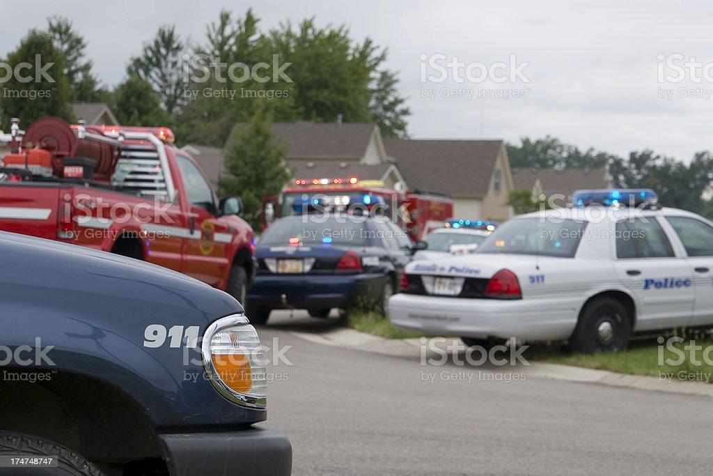 Emergency response stock photo