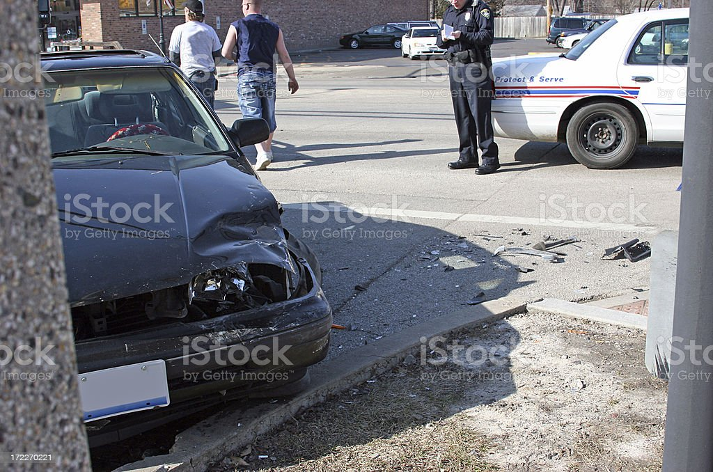 Emergency Response to Car Accident stock photo