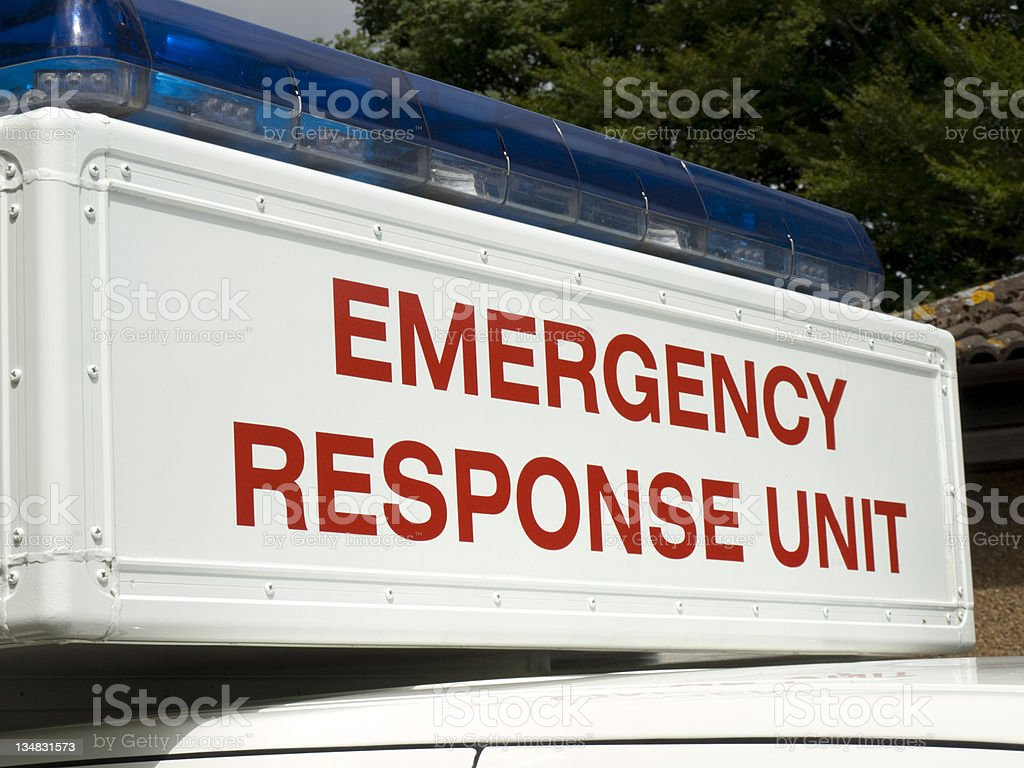 Emergency Response Unit Sign royalty-free stock photo