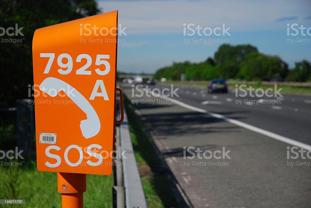 Emergency Road Telephone royalty-free stock photo