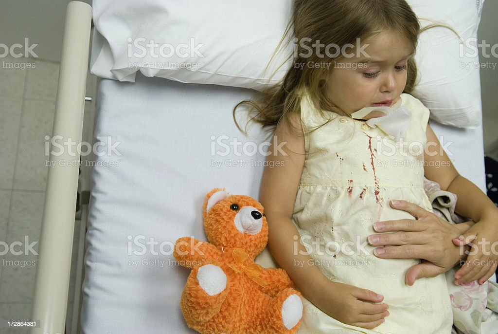 Emergency Room - Childhood Accidents royalty-free stock photo