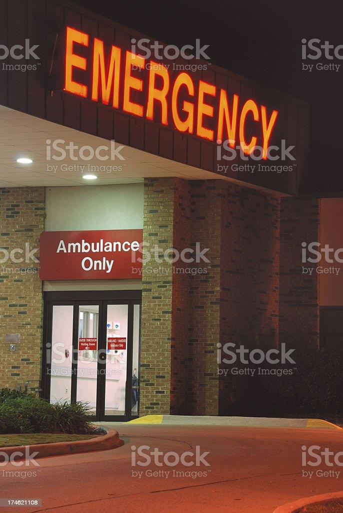 Emergency Room Entrance stock photo