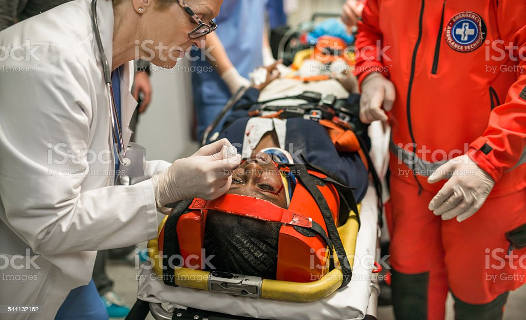 Emergency Room stock photo