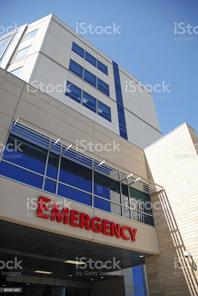 Emergency Room stock photo