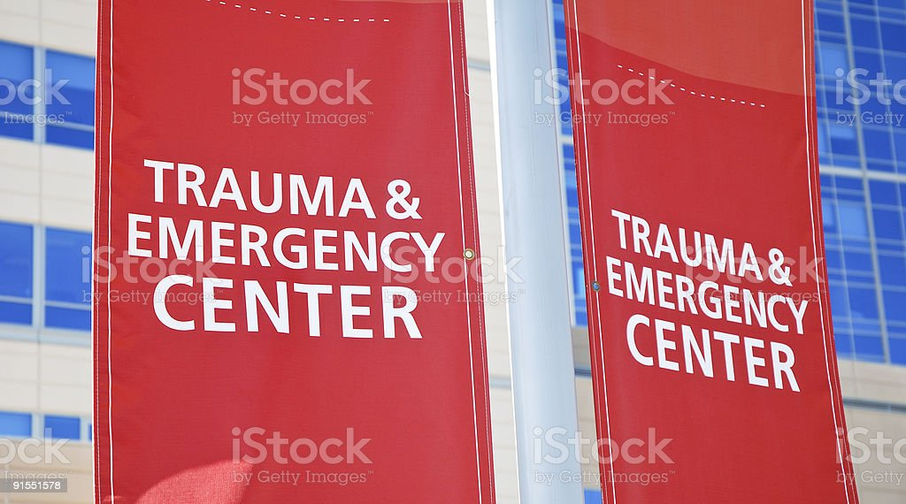 Emergency Room Sign stock photo