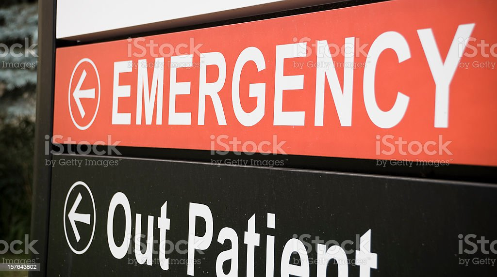 Emergency Room This Way royalty-free stock photo