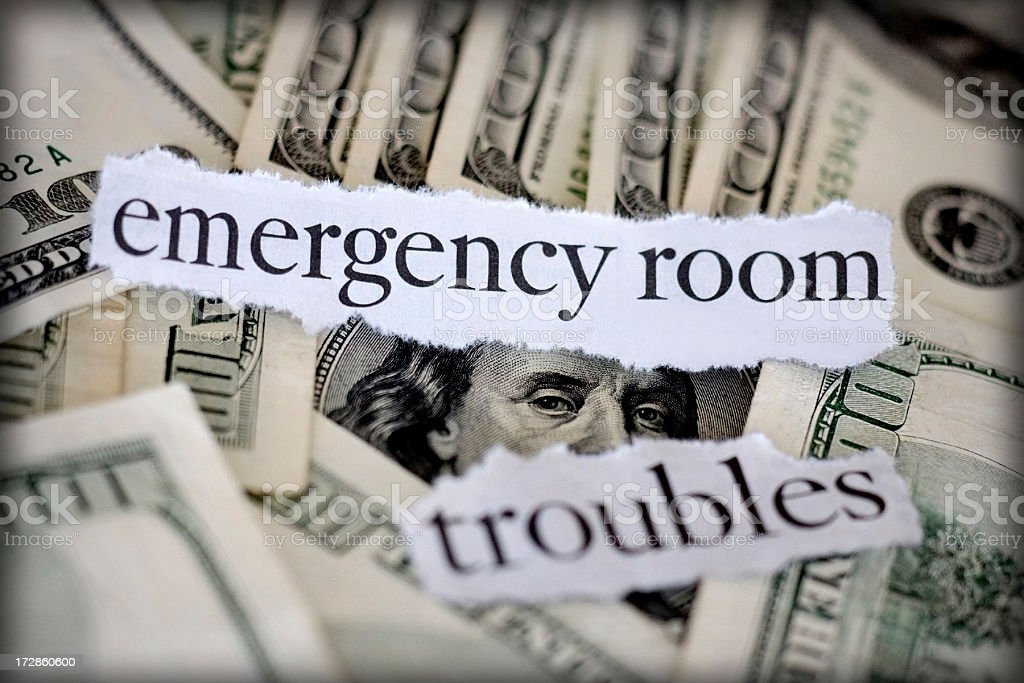 emergency room troubles royalty-free stock photo