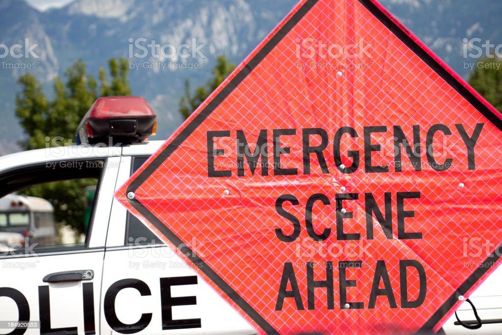 Emergency Scene Ahead royalty-free stock photo