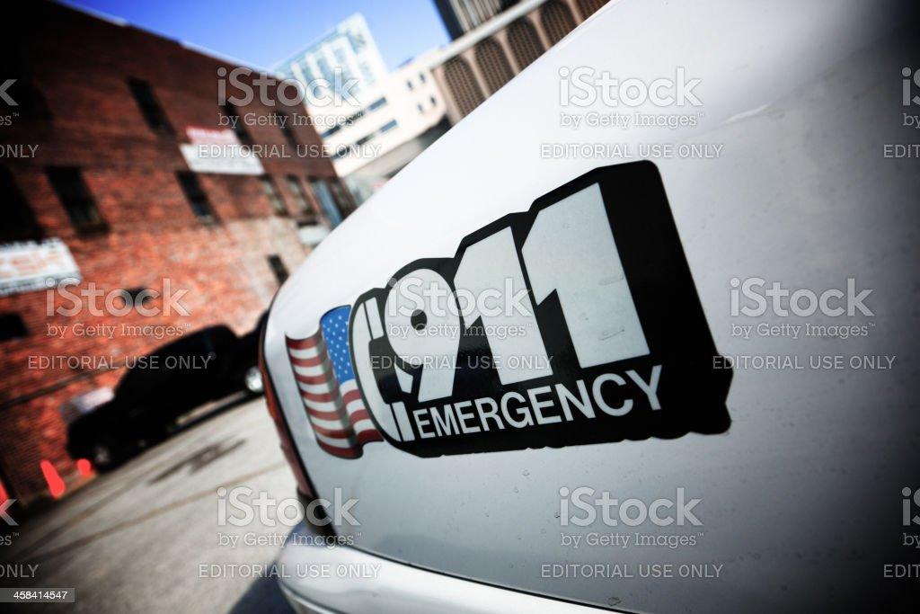 Emergency Service 911 royalty-free stock photo