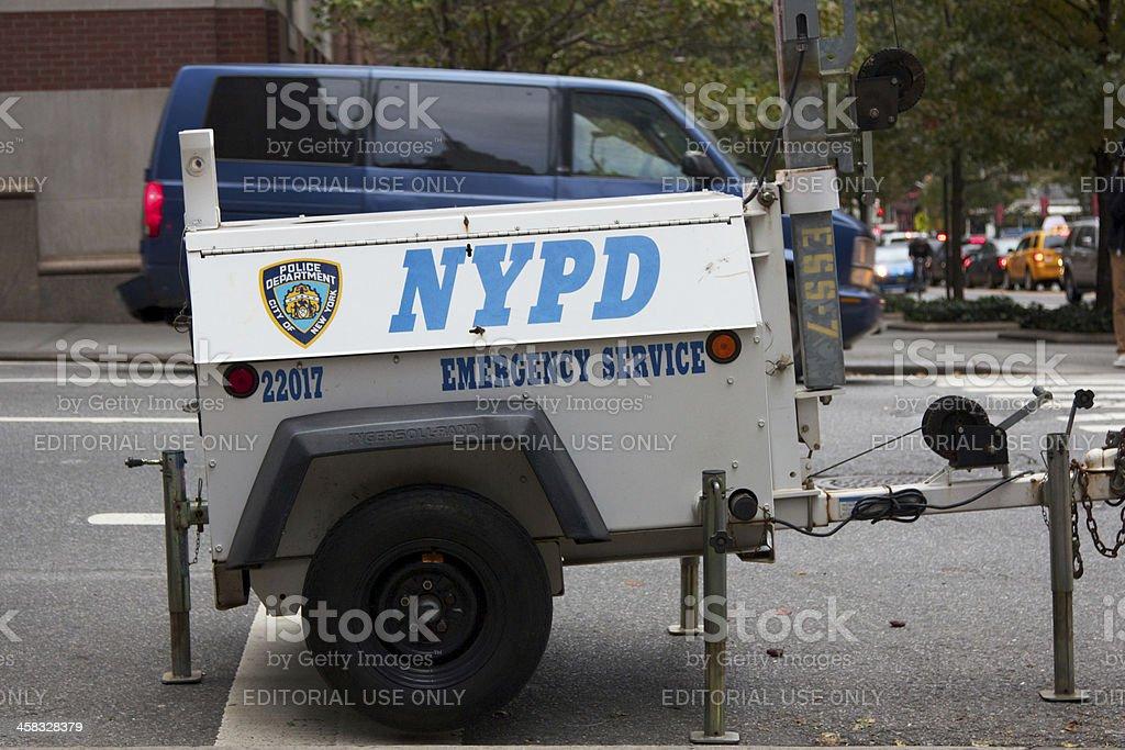 NYPD Emergency Service Generator stock photo