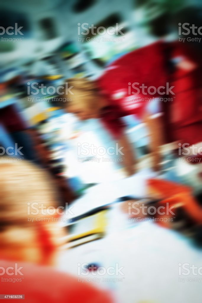 Emergency service rescuing an infarcted royalty-free stock photo