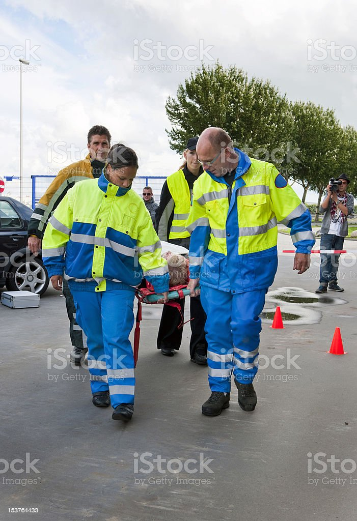 Emergency services in action royalty-free stock photo