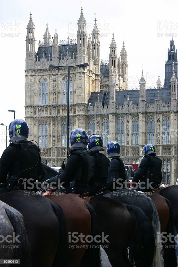 Emergency Services - Riot Police stock photo