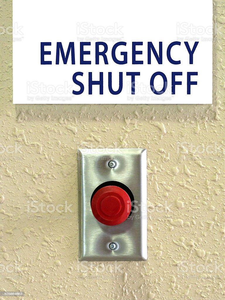 Emergency Shut Off Button stock photo