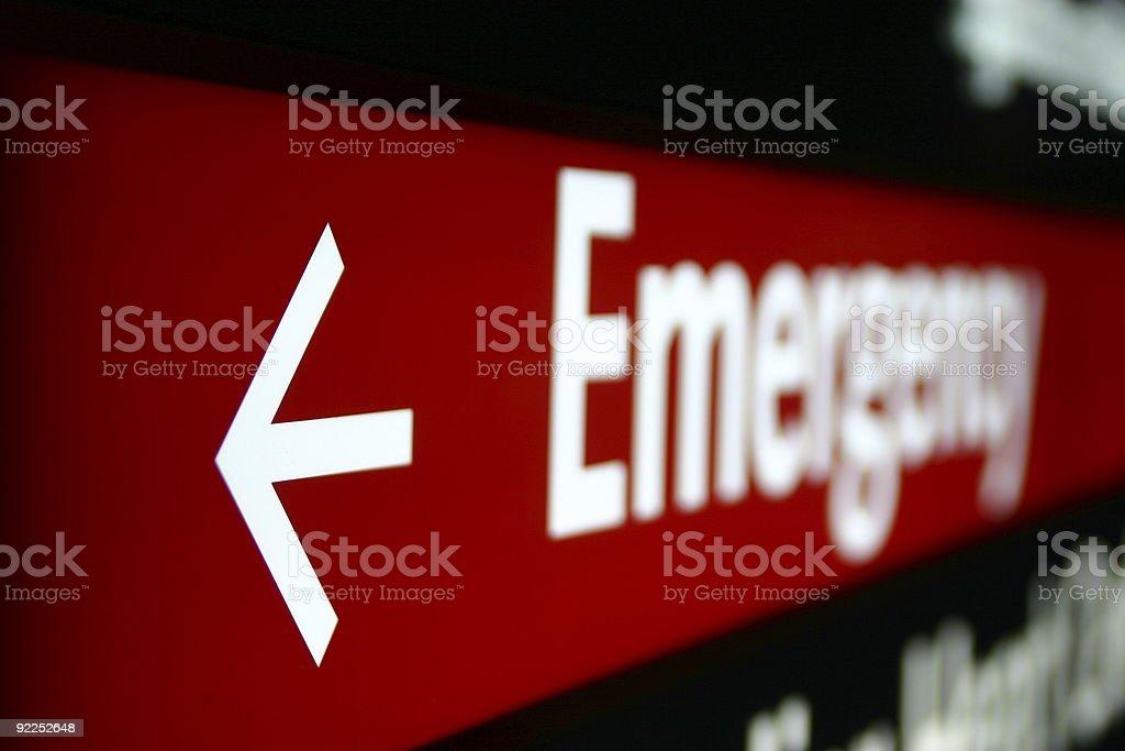 Emergency Sign 2 royalty-free stock photo