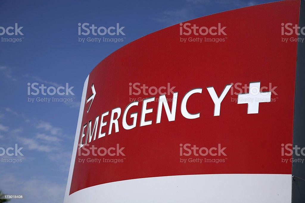shot of neon emergency sign