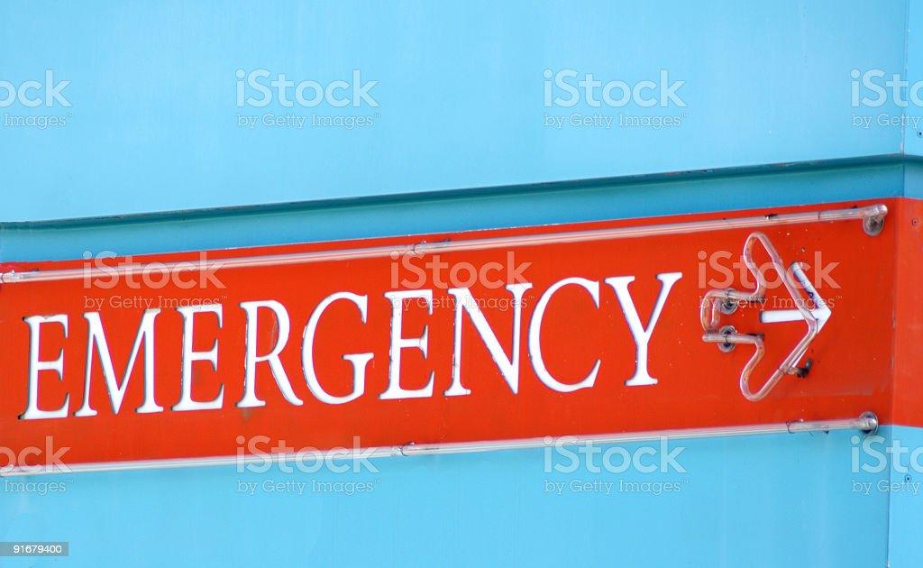 Emergency Sign royalty-free stock photo