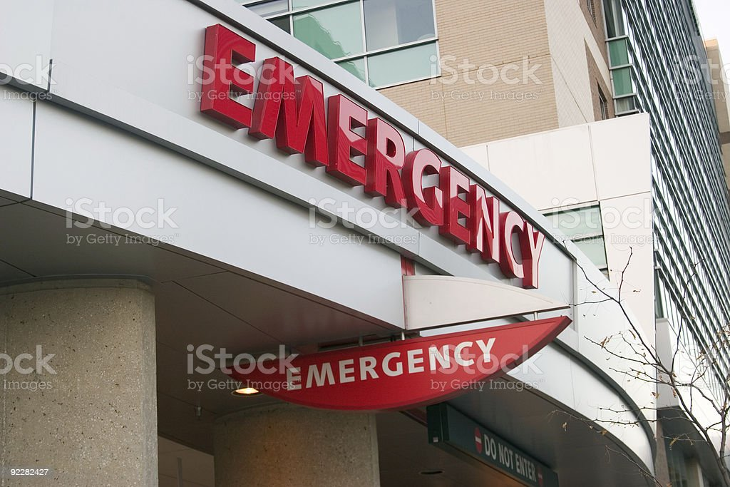 Emergency Signs stock photo