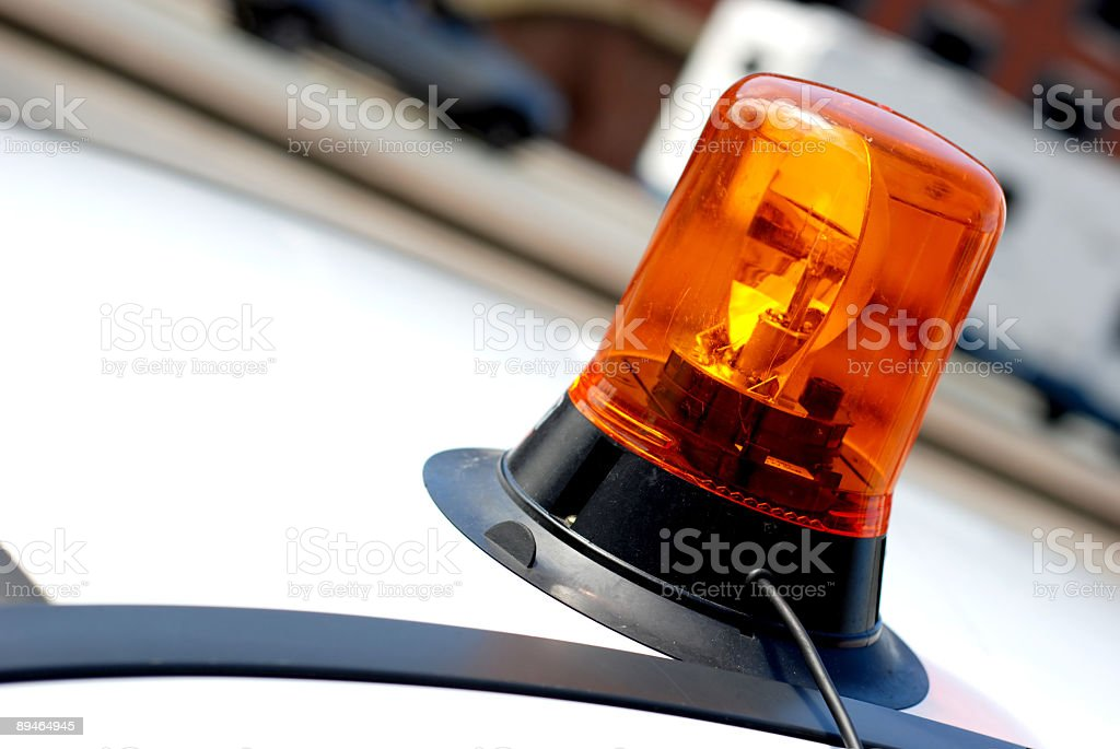 Emergency siren stock photo