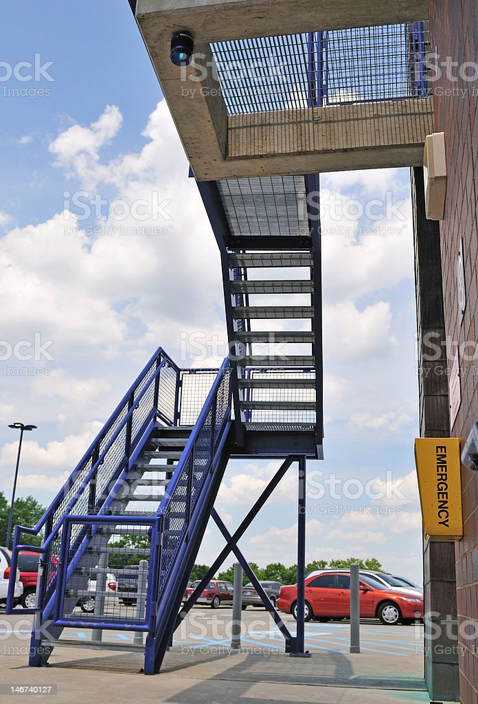 emergency stairway royalty-free stock photo