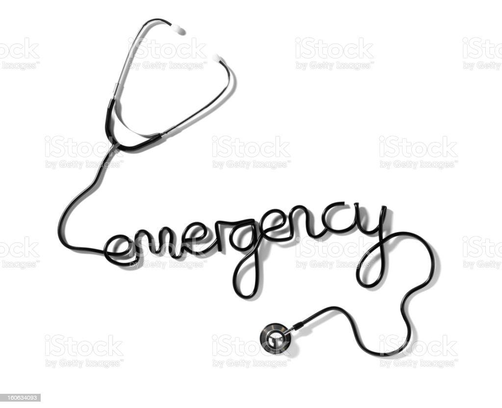 Emergency Stethoscope royalty-free stock photo