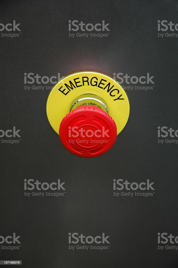 Emergency stop button royalty-free stock photo