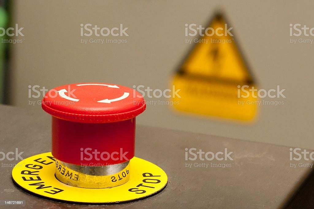Emergency Stop royalty-free stock photo