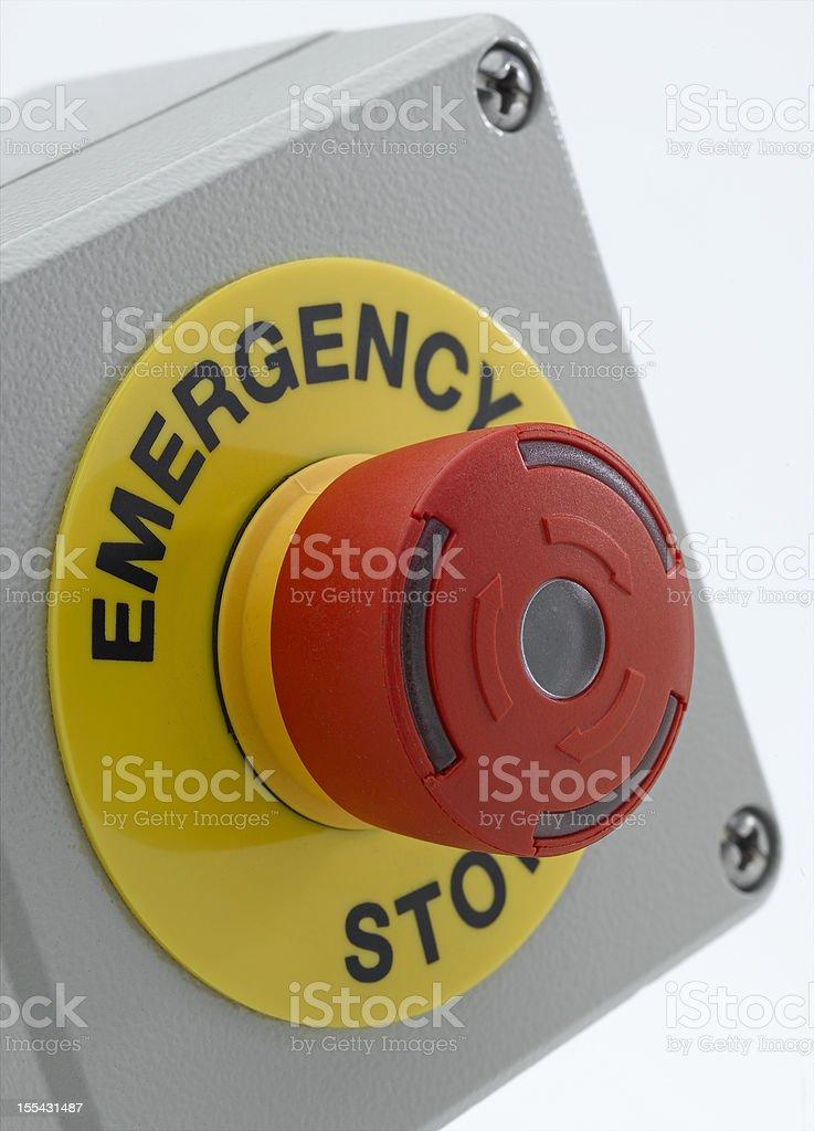 Emergency Stop stock photo