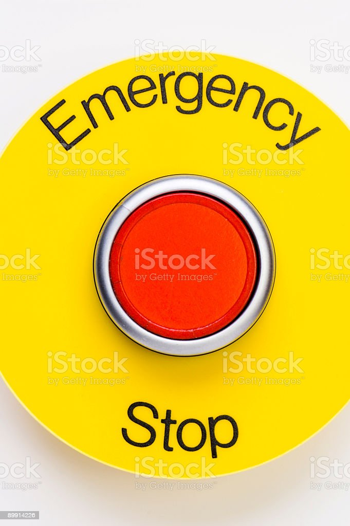 Emergency stop switch royalty-free stock photo