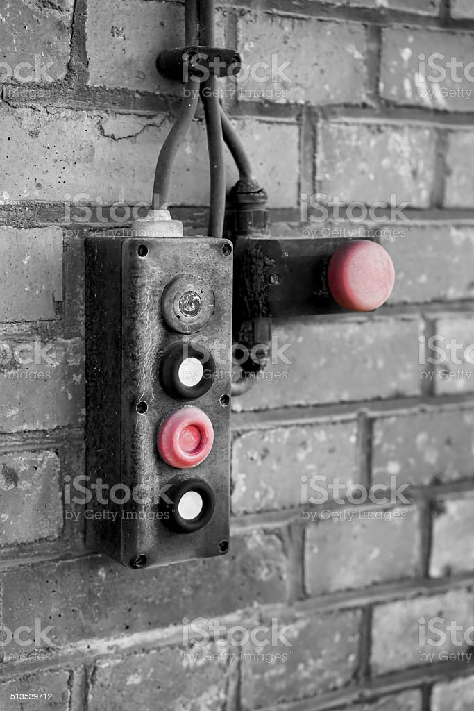 emergency switch stock photo