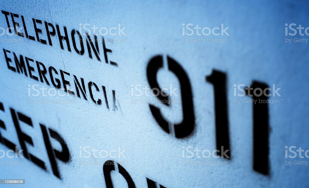 Emergency Telephone Number 911 royalty-free stock photo