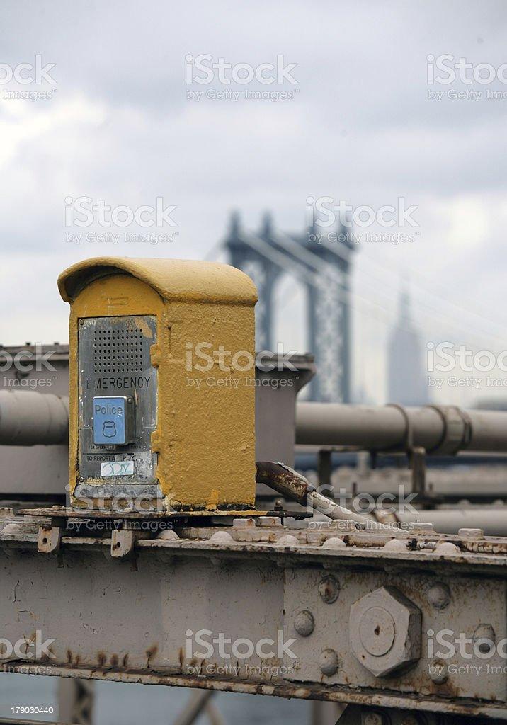 Emergency telephone royalty-free stock photo