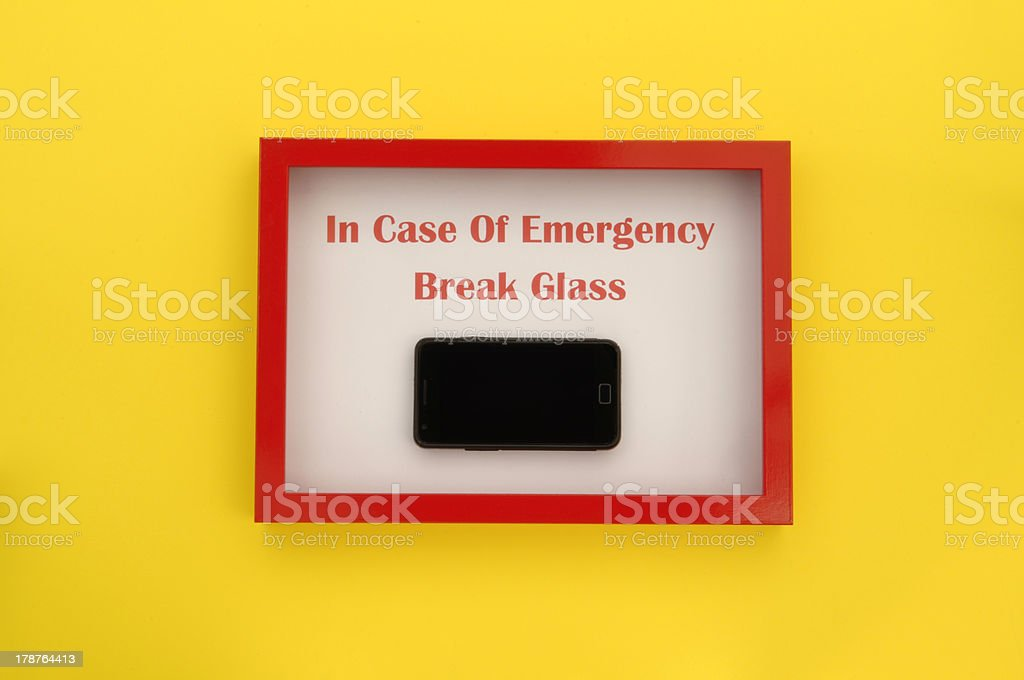 Emergency Use Only - Mobile Phone royalty-free stock photo