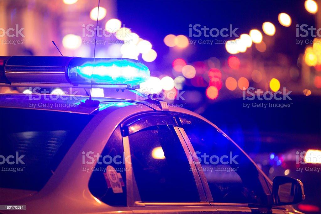 Emergency vehicle lighting stock photo