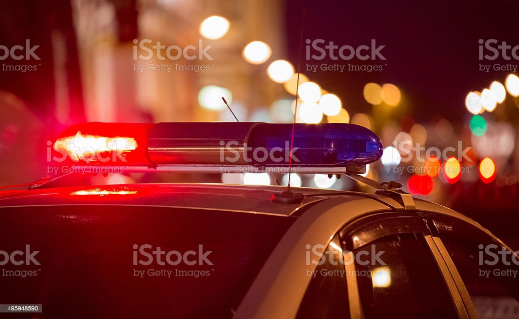 Emergency vehicle lighting stock photo