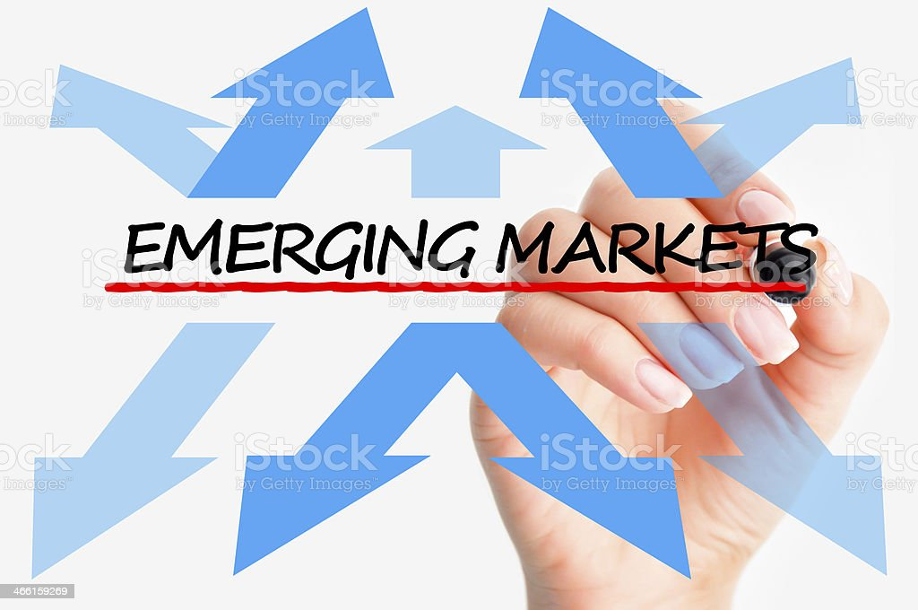 Emerging markets concept stock photo