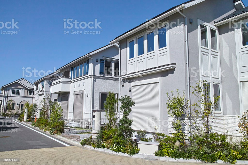 Emerging residential area stock photo