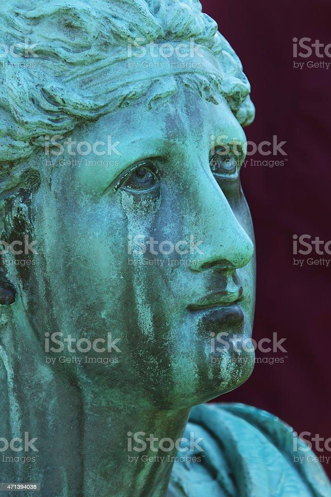 Emery Angel or Weeping Angel memorial. stock photo