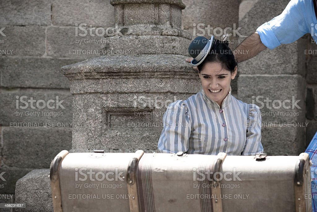Emigration in Galicia stock photo
