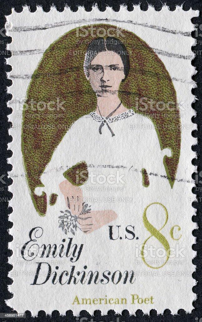Emily Dickinson Stamp stock photo