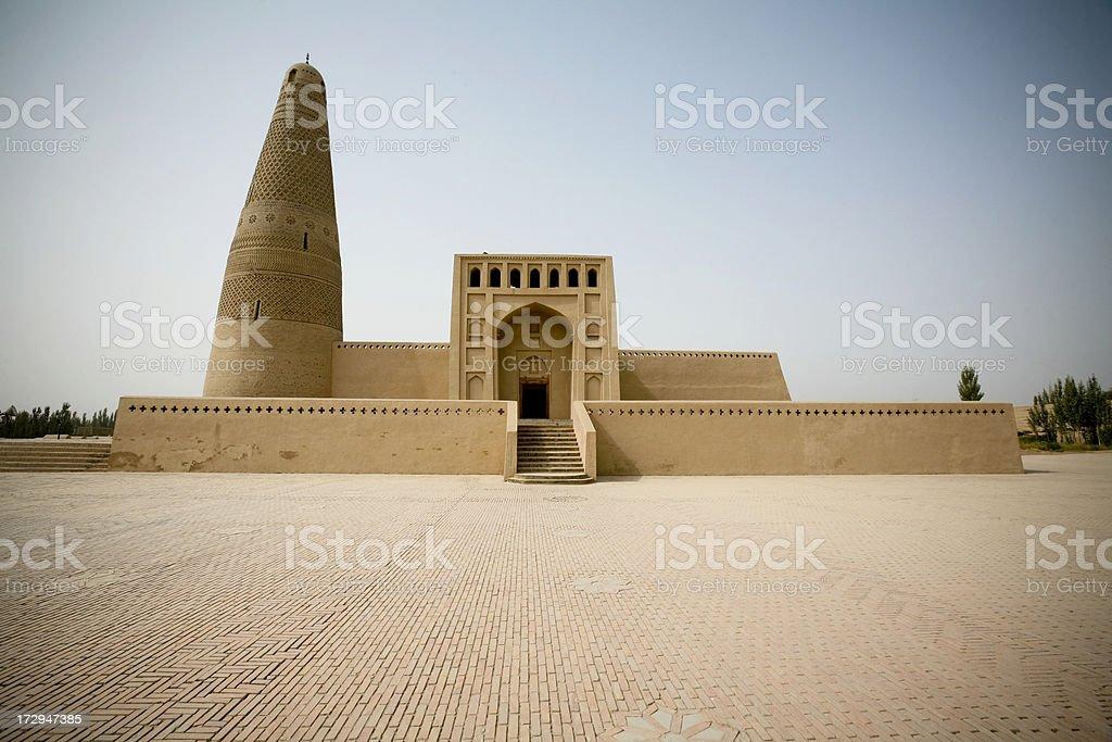 Emin Minaret on China's Silk Road stock photo