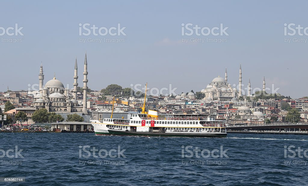 Eminonu and Fatih district in Istanbul City stock photo