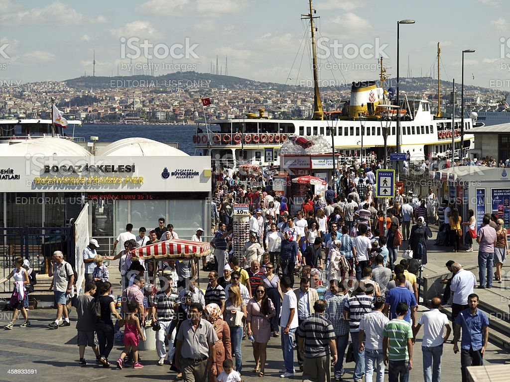 Eminonu district in Istanbul,Turkey royalty-free stock photo