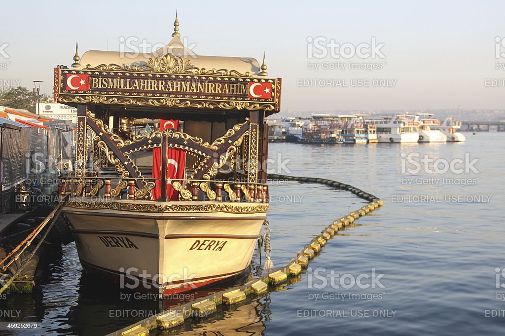 Eminonu in Istanbul, Turkey royalty-free stock photo